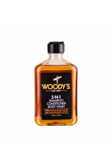 Woody's - 3-N-1 Tall, Dark, and Handsome (Shampoo, Conditioner, Body Wash) - 12oz / 355ml