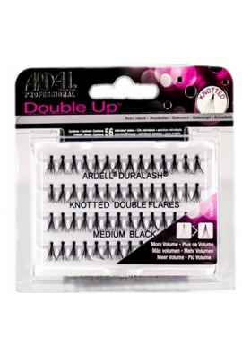 Ardell Double Up Individuals Lashes - Knotted Flare Trios - Medium Black