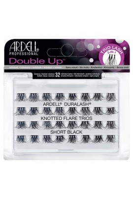Ardell Double Up Individuals Lashes - Knotted Flare Trios - Short Black