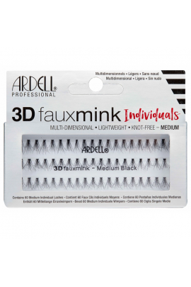 Ardell - 3D Faux Mink Individuals - Medium Black