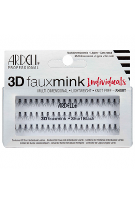 Ardell - 3D Faux Mink Individuals - Short Black