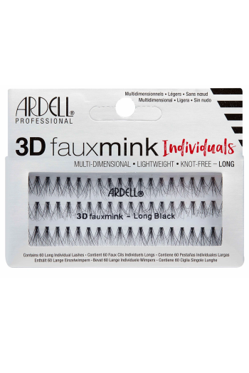 Ardell - 3D Faux Mink Individuals - Long Black