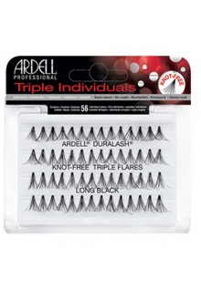 Ardell Triple Individuals Lashes - Knot Free Triple Flares - Long Black