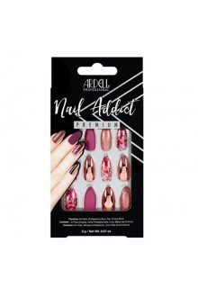 Ardell Nail Addict - Premium Artificial Nail Set - Chrome Pink Foil