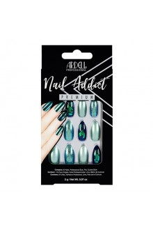 Ardell Nail Addict - Premium Artificial Nail Set - Green Glitter Chrome