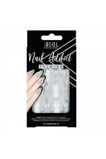 Ardell Nail Addict - Premium Artificial Nail Set - Holographic Glitter