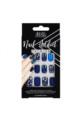 Ardell Nail Addict - Premium Artificial Nail Set - Matte Blue