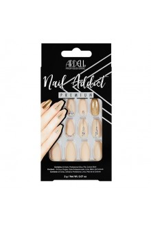Ardell Nail Addict - Premium Artificial Nail Set - Nude Jeweled