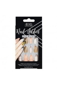 Ardell Nail Addict - Premium Artificial Nail Set - Pink Marble & Gold