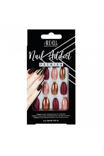 Ardell Nail Addict - Premium Artificial Nail Set - Red Cateye