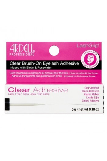Ardell LashGrip Brush-On Eyelash Adhesive - Biotin & Rosewater - Clear - 5g / 0.18oz