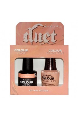 Artistic Nail Design - Duet Gel & Polish Duo - No Pain, No Gain - 15 mL / 0.5 oz each
