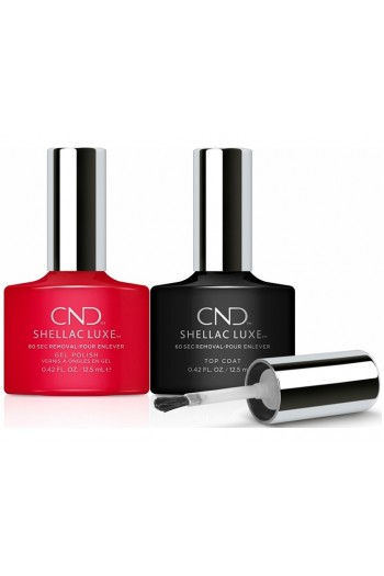 CND Shellac Luxe - Femme Fatale and Top Coat Duo Pack  - 12.5 mL / 0.42 oz Each