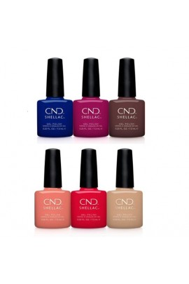 CND Shellac - Wild Earth 2018 Collection - All 6 Colors - 0.25 oz / 7.3 ml each