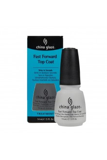 China Glaze Treatment - Fast Forward Top Coat - 0.5oz / 14ml