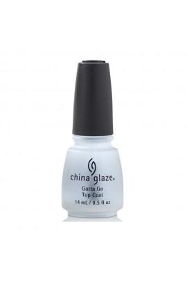 China Glaze Treatment - Gotta Go Top Coat - 0.5oz / 14ml