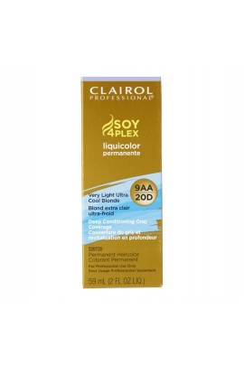 Clairol Professional - SOY4PLEX - Liquicolor Permanente - Very Light Ultra Cool Blonde - 9AA/20D - 2 oz / 59 mL