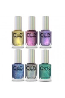 Color Club Lacquer - Halo Chrome Collection  - All 6 Colors - 15 mL / 0.5 oz each