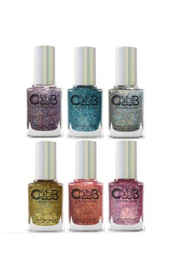 Color Club Lacquer - Halo Crush Collection  - All 6 Colors - 15 mL / 0.5 oz each