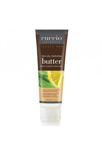 Cuccio Naturale Luxury Spa - Butter Blends Tube - White Limetta & Aloe Vera - 4oz