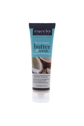 Cuccio Naturale Luxury Spa - Butter & Scrub Tube - Coconut & White Ginger - 4oz