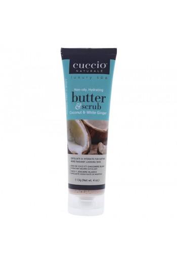 Cuccio Naturale Luxury Spa - Butter & Scrub Tube - Coconut & White Ginger - 4oz