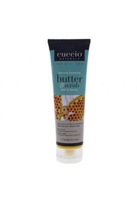 Cuccio Naturale Luxury Spa - Butter & Scrub Tube - Milk & Honey - 4oz