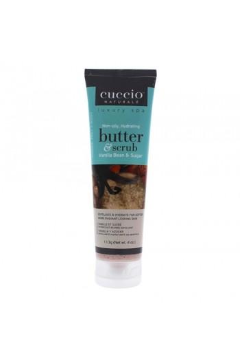 Cuccio Naturale Luxury Spa - Butter & Scrub Tube - Vanilla Bean & Sugar - 4oz