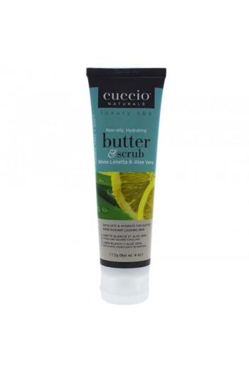 Cuccio Naturale Luxury Spa - Butter & Scrub Tube - White Limetta & Aloe Vera - 4oz