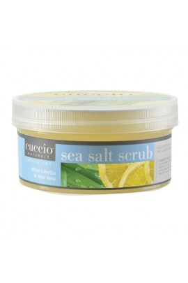 Cuccio Naturale Luxury Spa - Sea Salt Scrub - White Limetta & Aloe Vera - 19.5oz