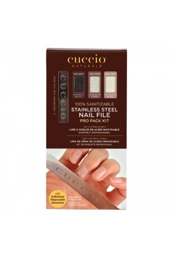 Cuccio Pro - Stainless Steel Nail File Pro Pack Kit