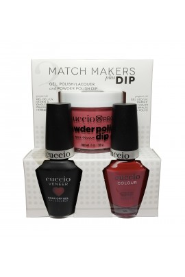 Cuccio Match Makers Plus Dip - Gel + Lacquer + Dip Powder (2oz) - Bella Natura Collection - Rock Solid - 13ml / 0.43oz Each