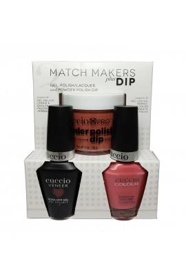 Cuccio Match Makers Plus Dip - Gel + Lacquer + Dip Powder (2oz) - Bella Natura Collection - Natural State - 13ml / 0.43oz Each