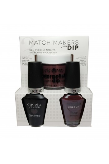 Cuccio Match Makers Plus Dip - Gel + Lacquer + Dip Powder (2oz) - Bella Natura Collection - Be Current - 13ml / 0.43oz Each