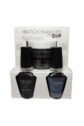 Cuccio Match Makers Plus Dip - Gel + Lacquer + Dip Powder (2oz) - Bella Natura Collection - Rolling Stone - 13ml / 0.43oz Each