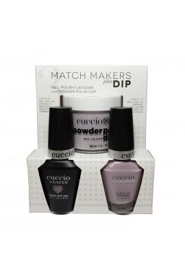 Cuccio Match Makers Plus Dip - Gel + Lacquer + Dip Powder (2oz) - Longing for London - 13ml / 0.43oz Each