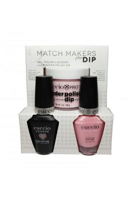 Cuccio Match Makers Plus Dip - Gel + Lacquer + Dip Powder (2oz) - Texas Rose - 13ml / 0.43oz Each