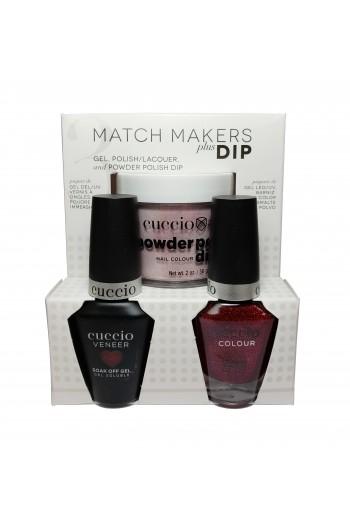 Cuccio Match Makers Plus Dip - Gel + Lacquer + Dip Powder (2oz) - Chakra - 13ml / 0.43oz Each