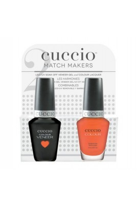 Cuccio Match Makers - Veneer Gel  & Lacquer - Be Fearless - 0.43oz / 13ml Each