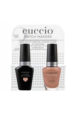 Cuccio Match Makers - Veneer Gel  & Lacquer - Rose Gold Slipper - 0.43oz / 13ml Each