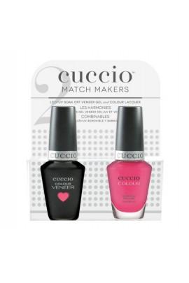 Cuccio Match Makers - Veneer Gel  & Lacquer - She Rocks - 0.43oz / 13ml Each