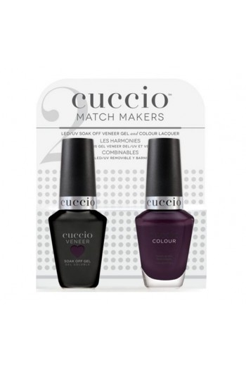 Cuccio Match Makers - Veneer Gel  & Lacquer - Quilty As Charged- 0.43oz / 13ml Each