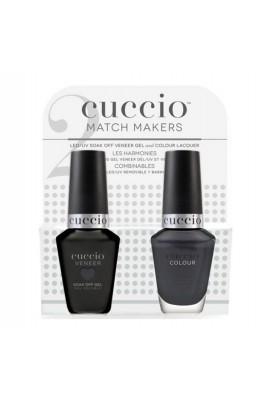 Cuccio Match Makers - Veneer Gel  & Lacquer - Text-Me-Tile - 0.43oz / 13ml Each
