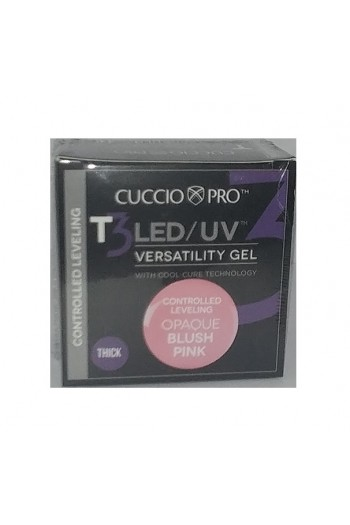 Cuccio Pro - T3 LED/UV Gel - Controlled Leveling - Opaque Blush Pink - 1 oz / 28 g