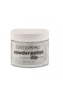 Cuccio Pro - Powder Polish Dip System - Black w/ Red Glitter - 1.6 oz / 45 g