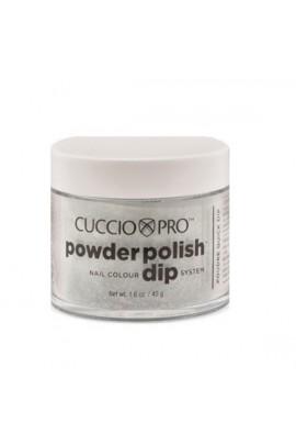 Cuccio Pro - Powder Polish Dip System - Black w/ Red Glitter - 1.6 oz / 45 g