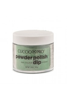 Cuccio Pro - Powder Polish Dip System - Emerald Green w/ Rainbow Mica - 1.6 oz / 45 g