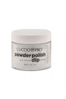Cuccio Pro - Powder Polish Dip System - Platinum Silver Glitter - 1.6 oz / 45 g