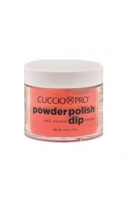 Cuccio Pro - Powder Polish Dip System - Red w/ Orange Undertones - 1.6 oz / 45 g