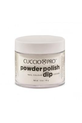 Cuccio Pro - Powder Polish Dip System - White w/ Silver Mica - 1.6 oz / 45 g